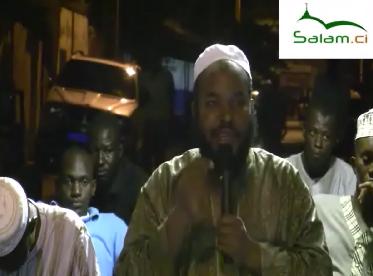 Conférence organisée par l'association islamique istiqamat de Treichville