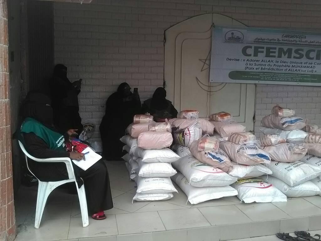 5 éme édition de la journée de bienfaisance du moi béni de Ramadan par la Convention des Femmes Musulmanes Sunnites en Côte d'Ivoire (CFEMSCI).