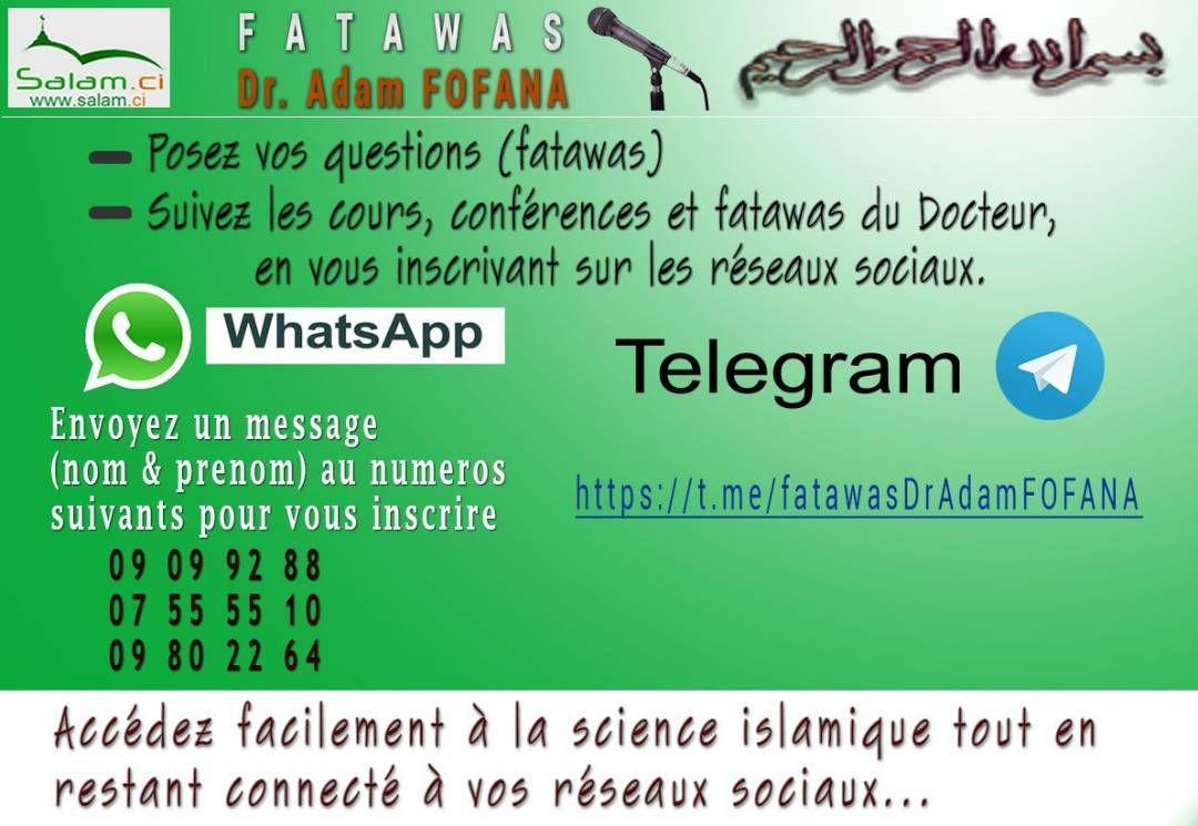 Fatawas Dr. Adam FOFANA