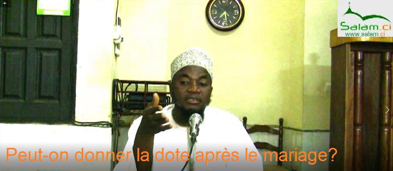 Fatwa: Peut-on donner la dote après le mariage?